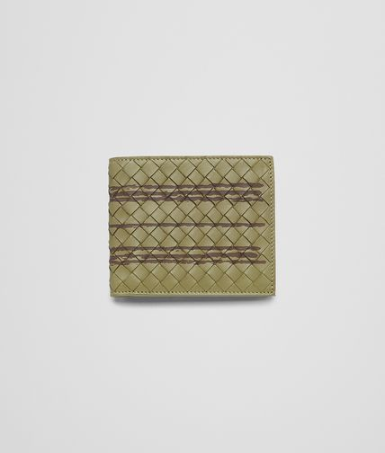 BOTTEGA VENETA - New Army Striped Intrecciato Light Calf Wallet