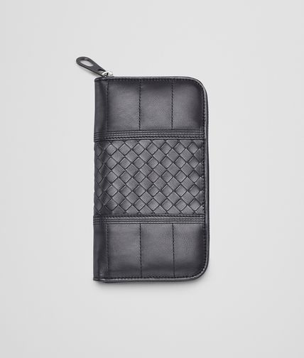 BOTTEGA VENETA - Tourmaline Quilted Light Calf Zip Around Wallet