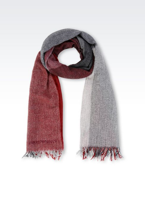 SCARF IN MULTI-COLOURED CASHMERE: Scarves Women by Armani - 1