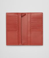 Edoardo Burnt Red Intrecciato Washed Vintage Continental Wallet