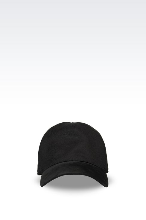 BASEBALL CAP IN CASHMERE: Hats with visor Men by Armani - 1