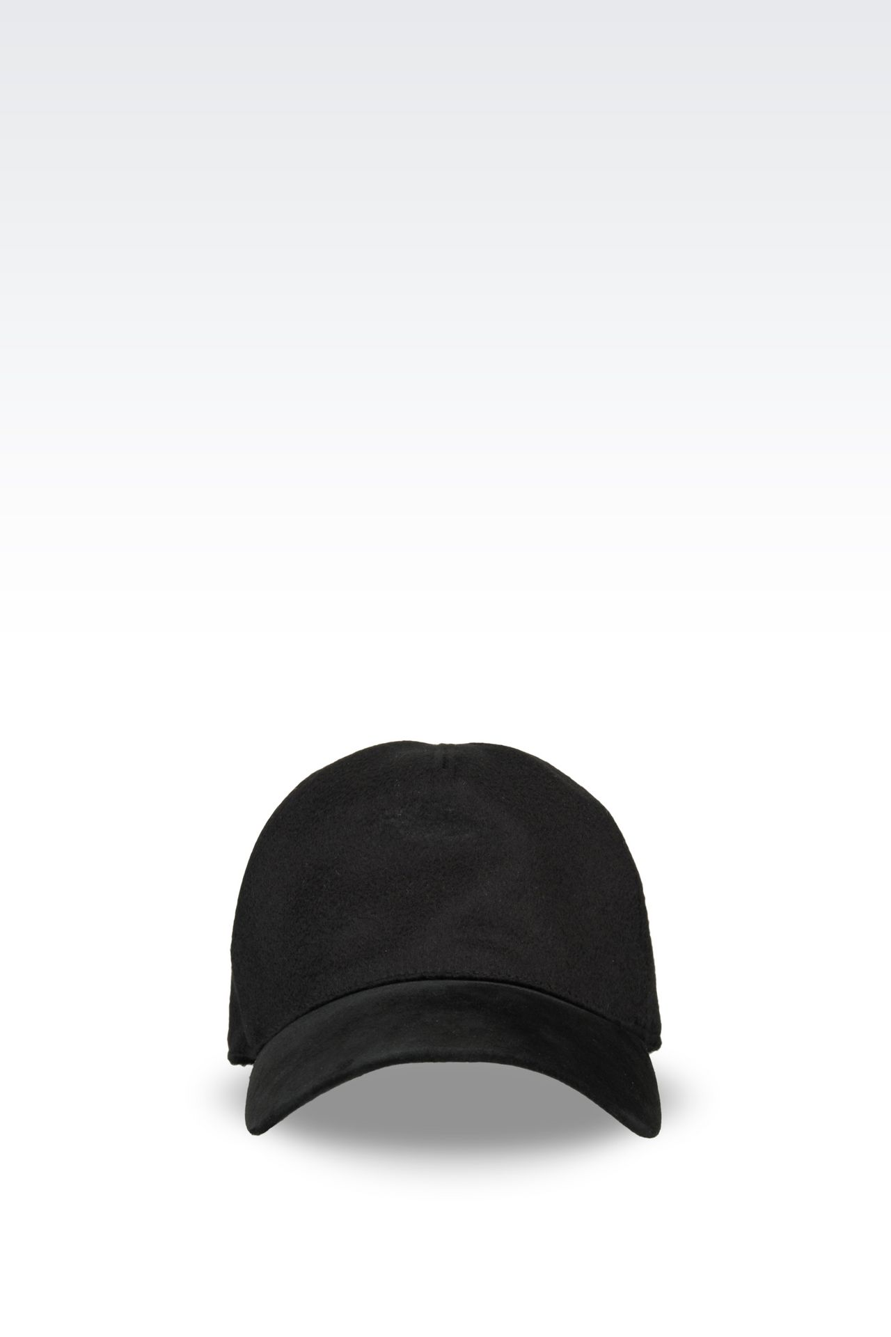 BASEBALL CAP IN CASHMERE: Hats with visor Men by Armani - 0