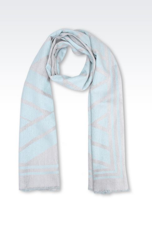 WRAP IN VISCOSE BLEND: Stoles Women by Armani - 1