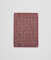 Aubergine Rosa Shock Intrecciato Washed Vintage Passport Case