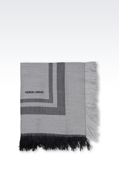 WRAP IN WOOL AND MODAL: Stoles Men by Armani - 2