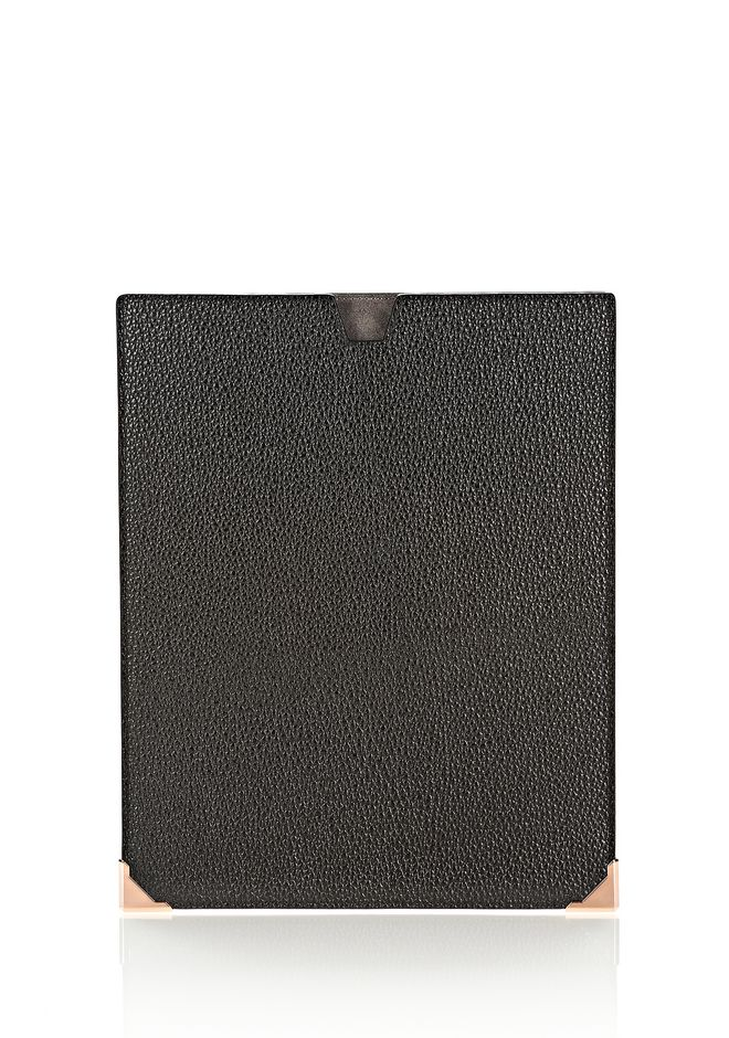 ALEXANDER WANG PRISMA IPAD SLEEVE IN PEBBLED CALF WITH ROSE GOLD