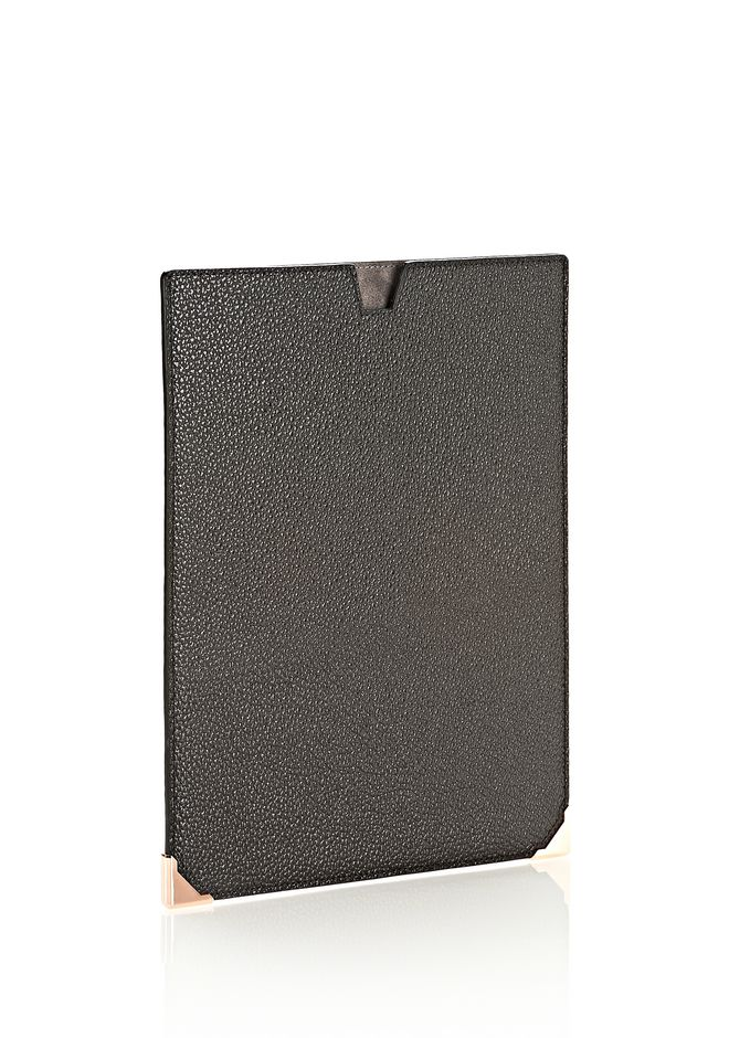 ALEXANDER WANG PRISMA IPAD SLEEVE IN PEBBLED CALF WITH ROSE GOLD TECH Adult 12_n_r