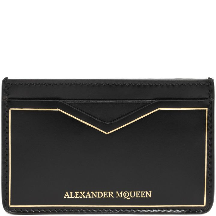 Alexander McQueen, Alexander McQueen Gold Stamped Card Holder