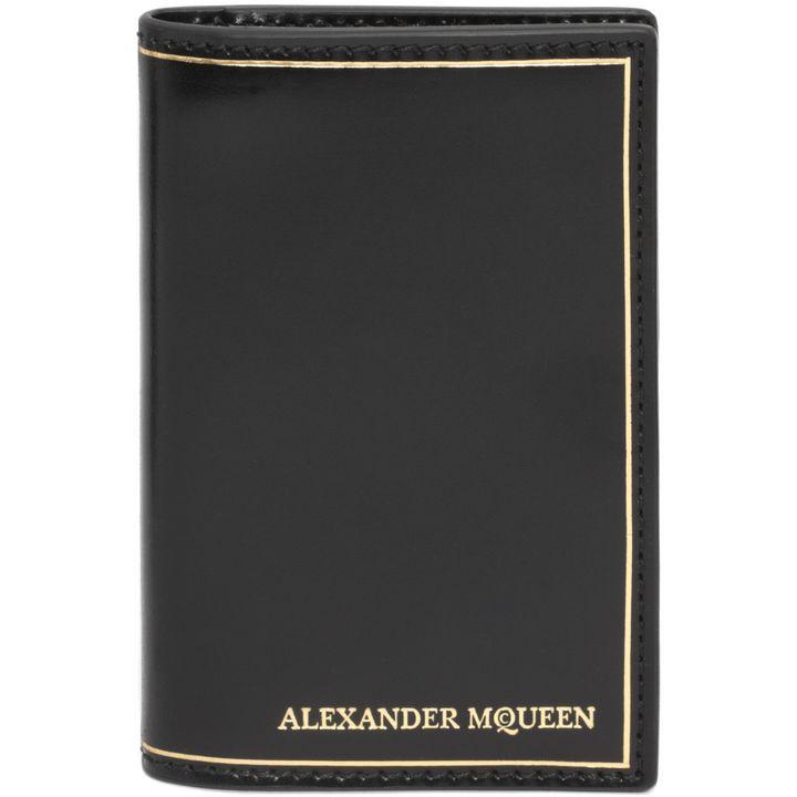 Alexander McQueen, Alexander McQueen Gold Stamped Pocket Organiser