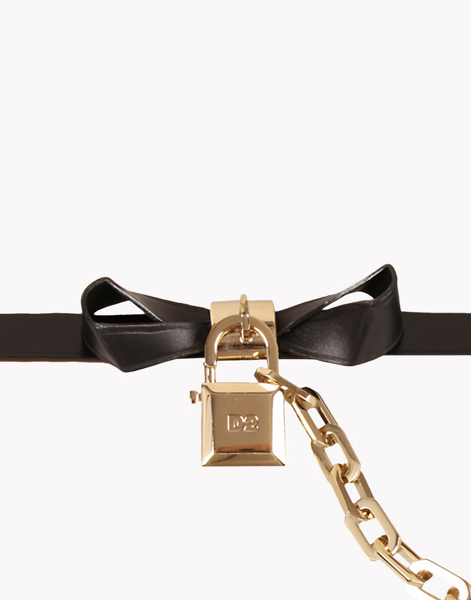 locked bow belt belts Woman Dsquared2