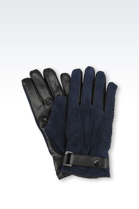 SUEDE AND NAPPA GLOVE: Gloves Men by Armani - 1