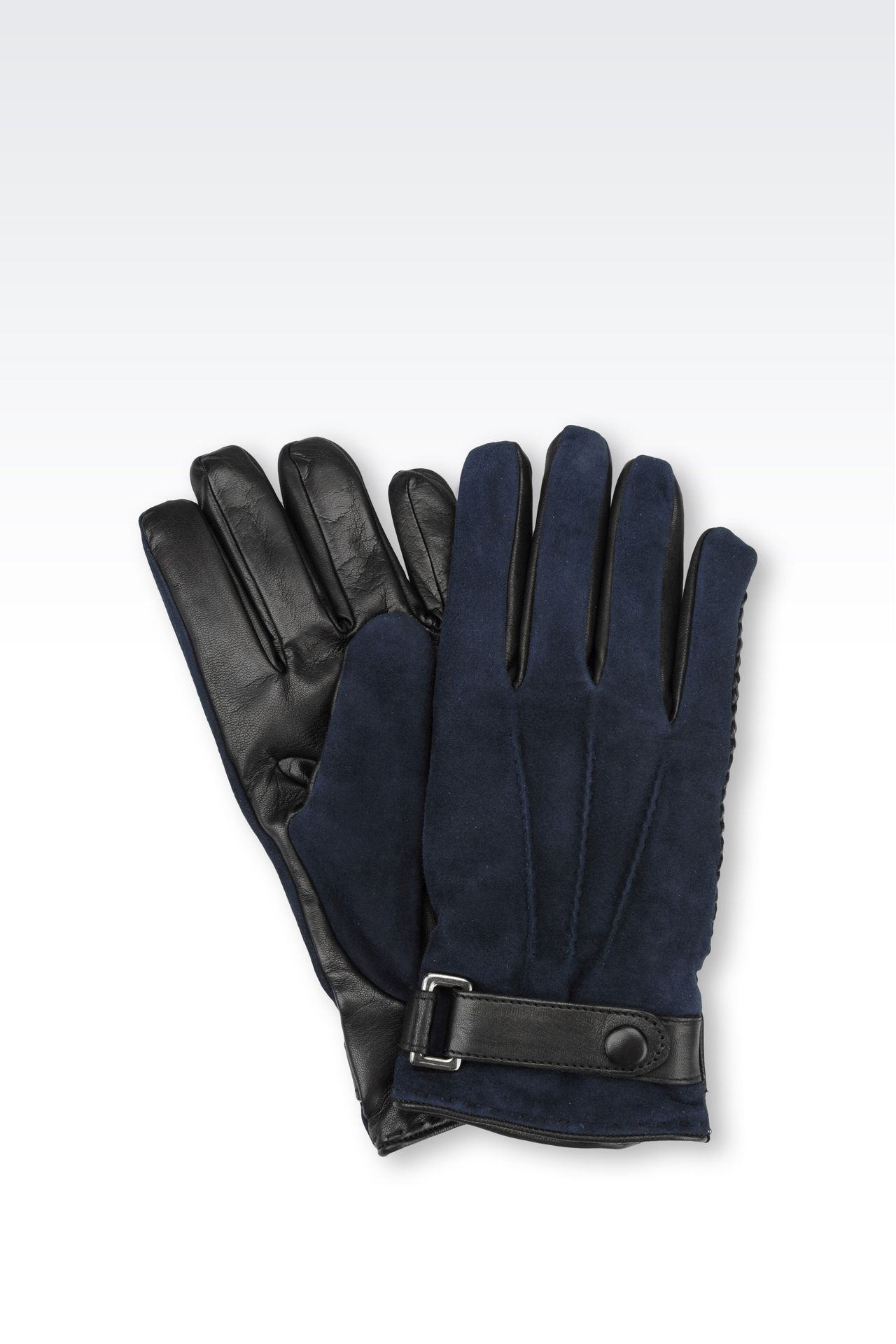 SUEDE AND NAPPA GLOVE: Gloves Men by Armani - 0