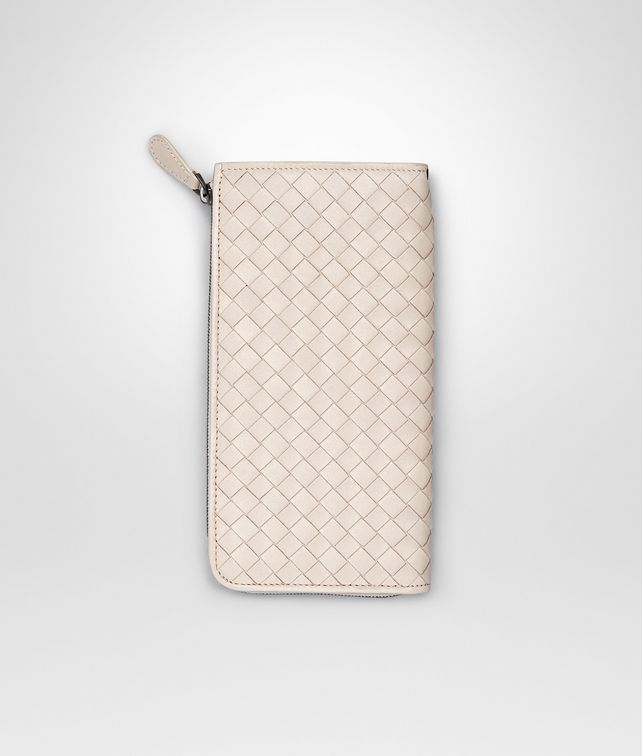 PALE INTRECCIATO NAPPA ZIP AROUND WALLET