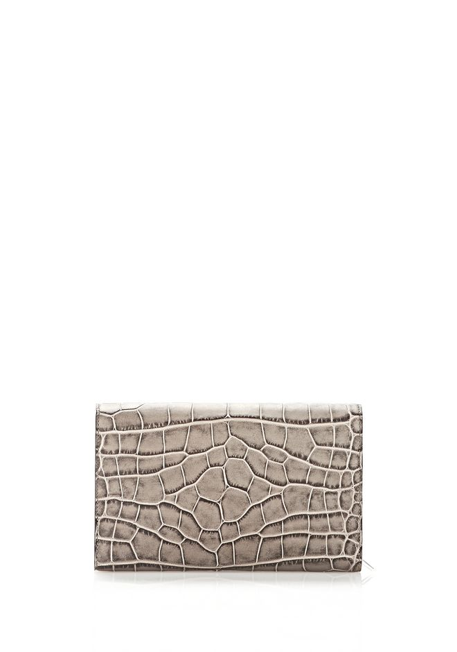 ALEXANDER WANG PRISMA ENVELOPE  WALLET IN OYSTER WITH RHODIUM Wallets Adult 12_n_d