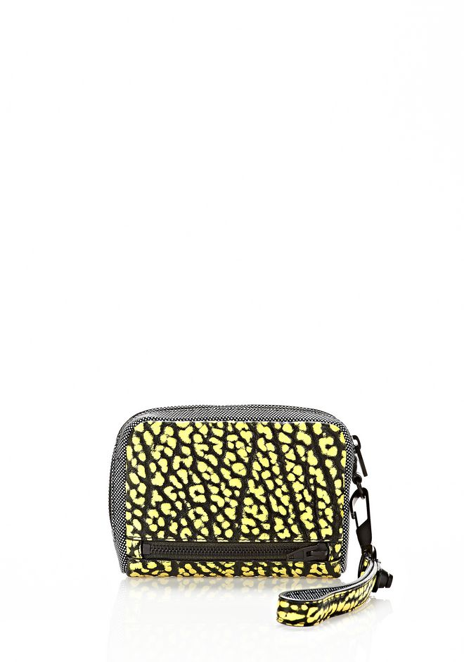 ALEXANDER WANG LARGE FUMO IN CONTRAST TIP CITRON Wallets Adult 12_n_r