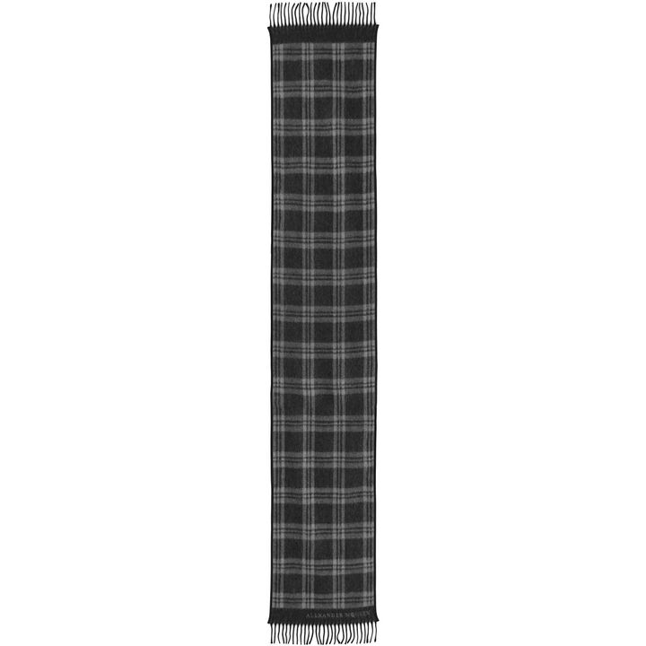 Alexander McQueen, Foulard Check con Finiture in Pelle
