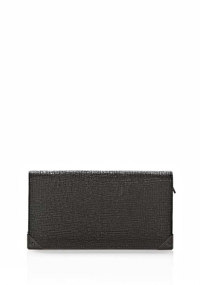 ALEXANDER WANG PRISMA CONTINENTAL WALLET IN EMBOSSED BLACK Wallets Adult 12_n_e