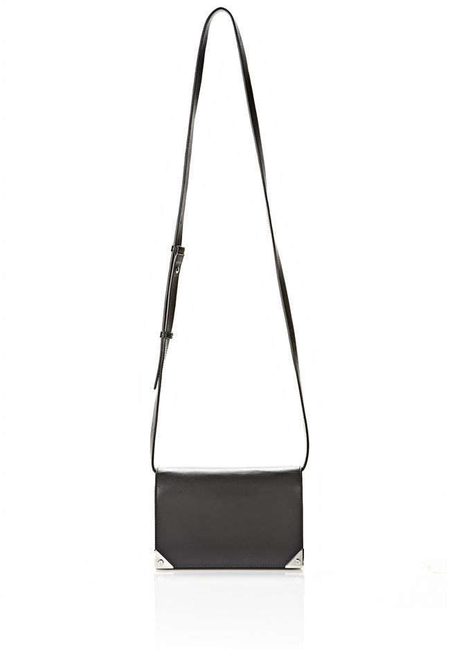 ALEXANDER WANG PRISMA DOUBLE BIKER SLING IN BLACK SMALL LEATHER GOOD Adult 12_n_f