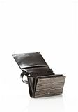 PRISMA DOUBLE BIKER PURSE IN EMBOSSED OYSTER