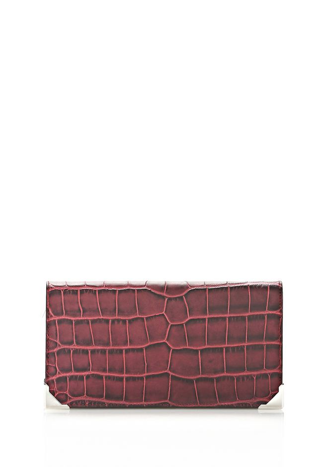 ALEXANDER WANG PRISMA CONTINENTAL WALLET IN BEET Wallets Adult 12_n_e