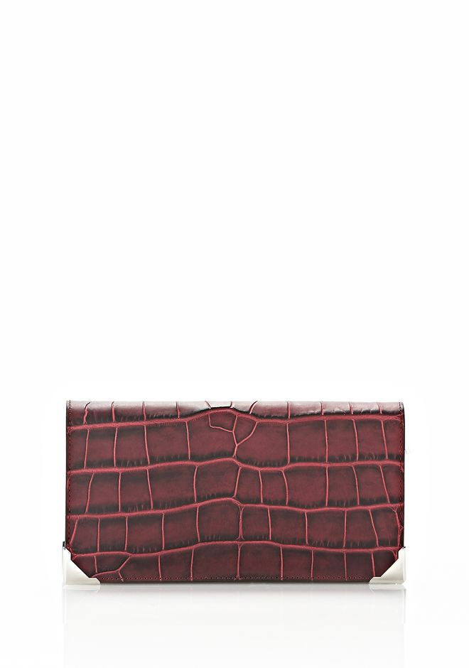 ALEXANDER WANG PRISMA CONTINENTAL WALLET IN BEET Wallets Adult 12_n_f