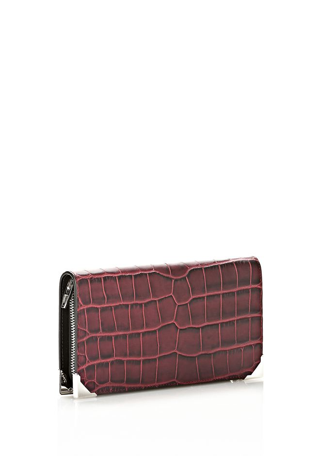 ALEXANDER WANG PRISMA CONTINENTAL WALLET IN BEET Wallets Adult 12_n_r