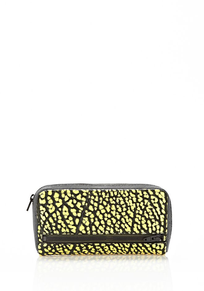 ALEXANDER WANG FUMO CONTINENTAL WALLET IN CONTRAST TIP CITRON Wallets Adult 12_n_f