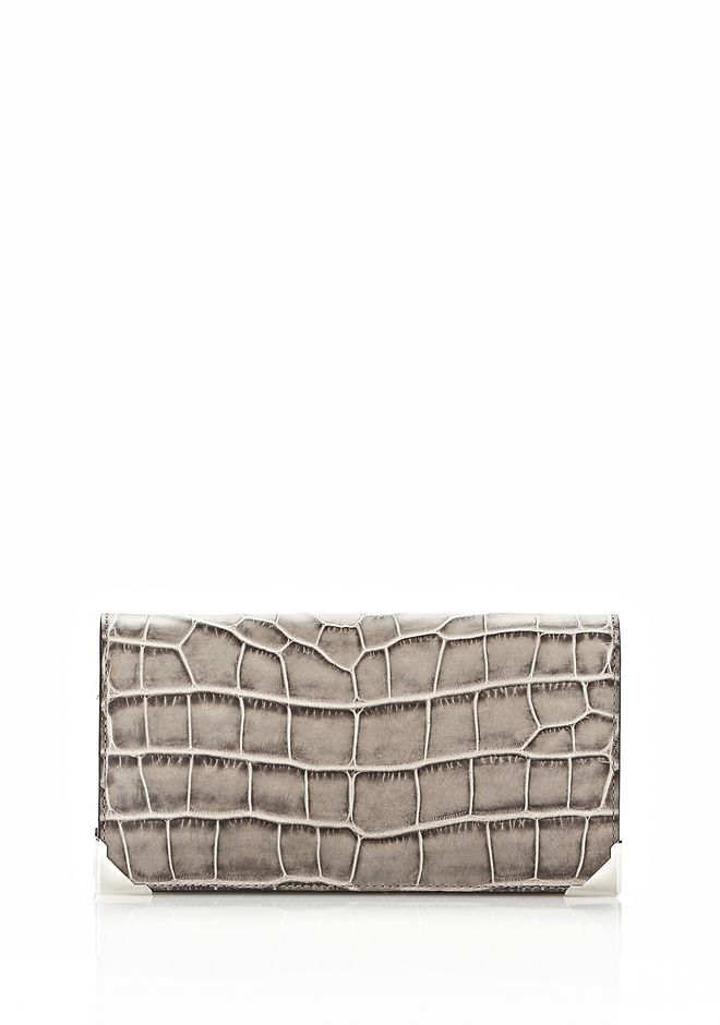 ALEXANDER WANG PRISMA  CONTINENTAL WALLET IN OYSTER Wallets Adult 12_n_e