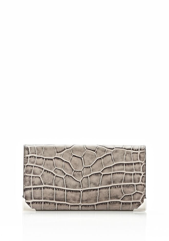ALEXANDER WANG PRISMA  CONTINENTAL WALLET IN OYSTER Wallets Adult 12_n_f