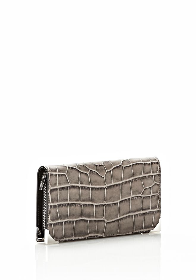 ALEXANDER WANG PRISMA  CONTINENTAL WALLET IN OYSTER Wallets Adult 12_n_r