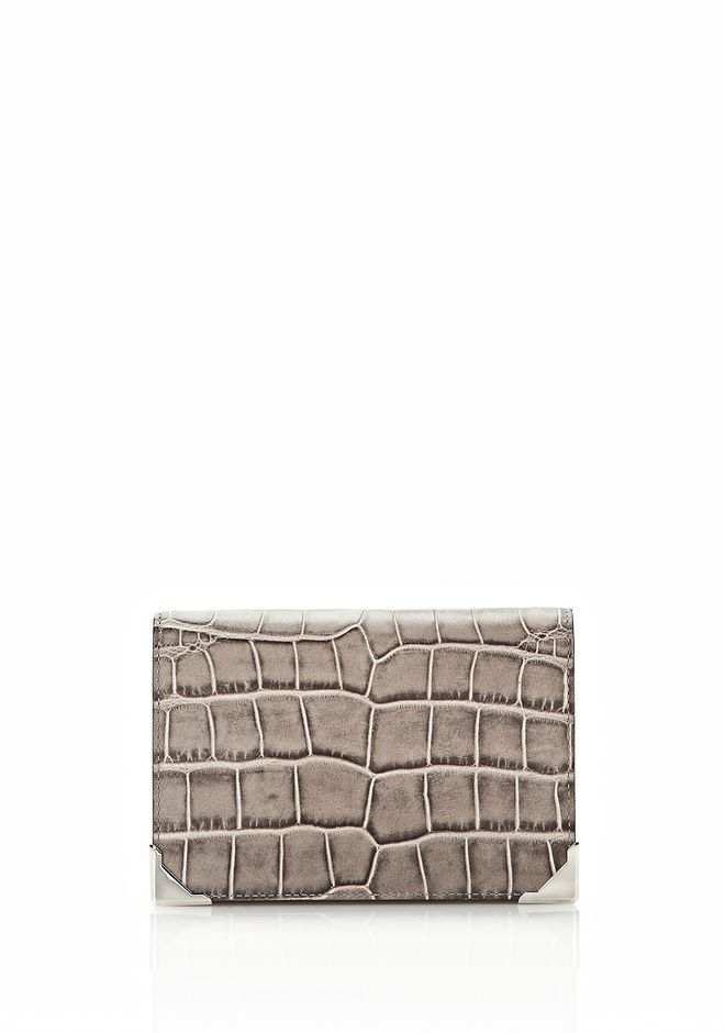 ALEXANDER WANG PRISMA DOUBLE BIKER PURSE IN OYSTER