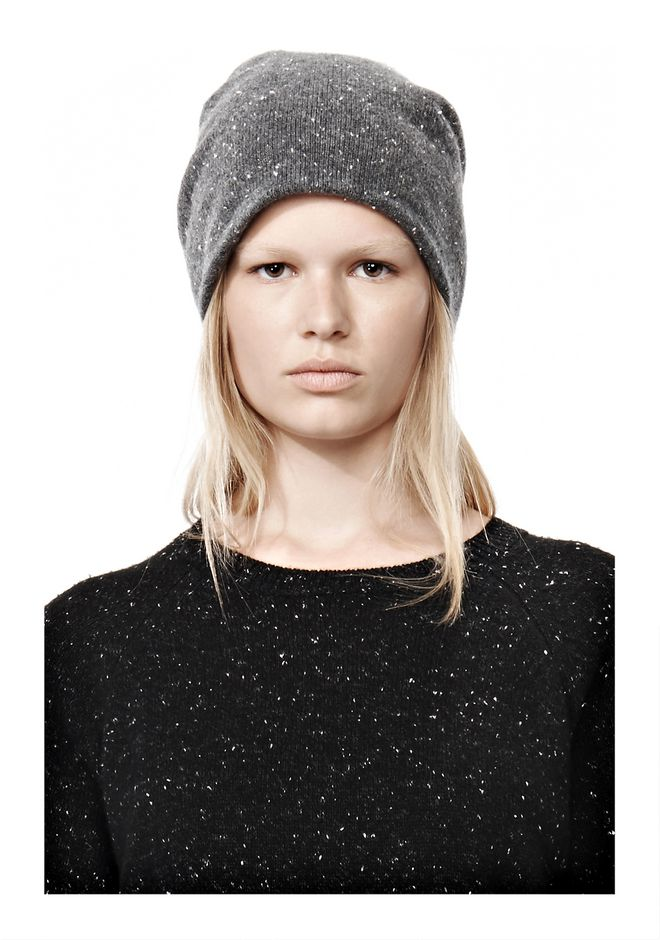 ALEXANDER WANG CASHMERE DONEGAL BEANIE Scarf & Hat Adult 12_n_e
