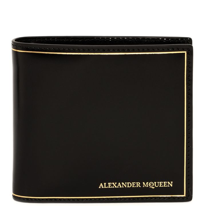 Alexander McQueen, Alexander McQueen Gold Stamped Fold Wallet