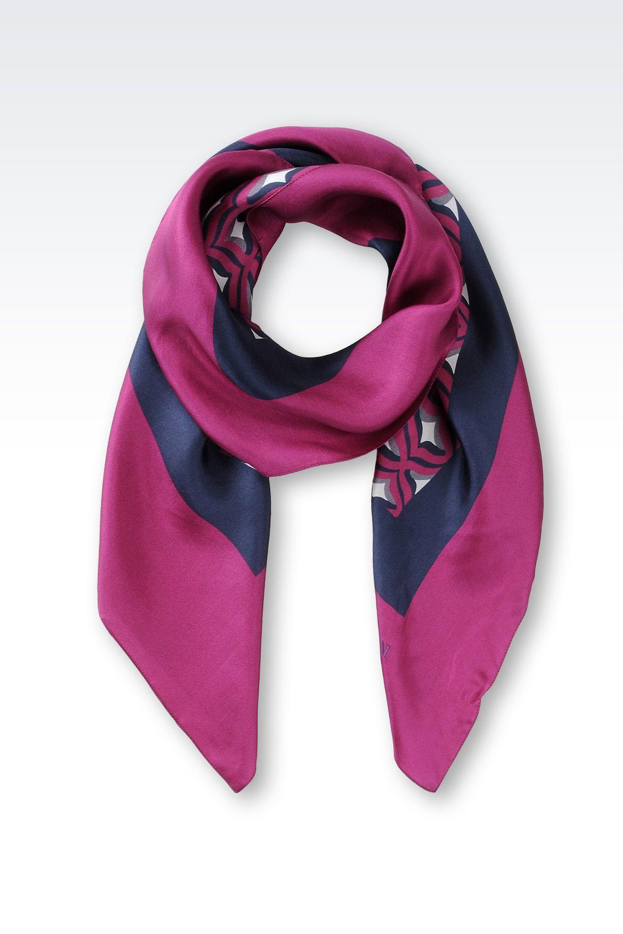 emporio armani silk scarf armani