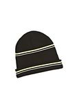 T by ALEXANDER WANG MERINO BLEND RIB KNIT BEANIE WITH STRIPE DETAIL Scarf & Hat Adult 8_n_f