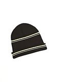 T by ALEXANDER WANG MERINO BLEND RIB KNIT BEANIE WITH STRIPE DETAIL Scarf & Hat Adult 8_n_r