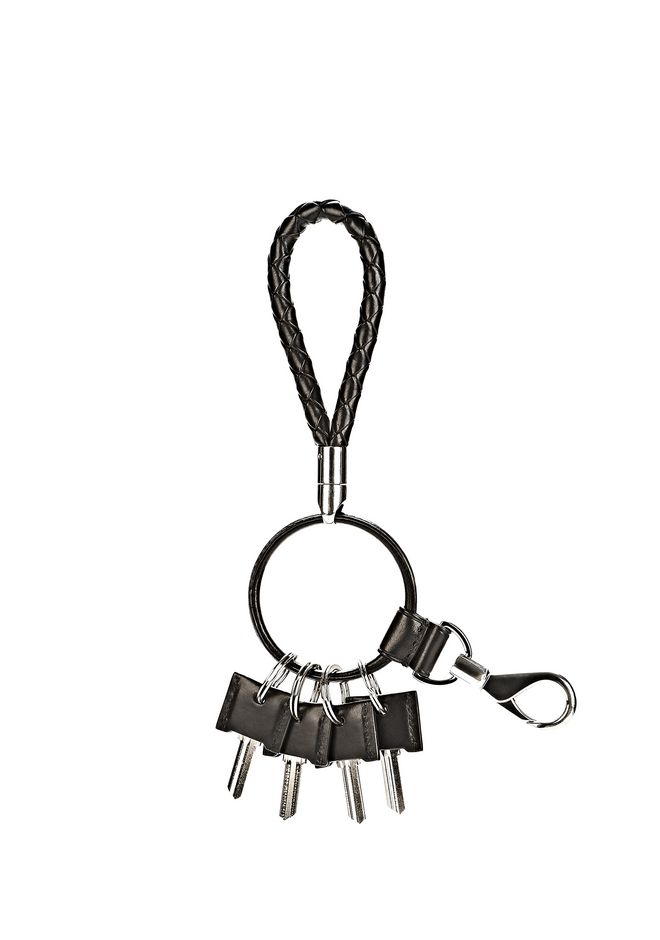 ALEXANDER WANG RUNWAY KEYRING IN  BLACK SMALL LEATHER GOOD Adult 12_n_e