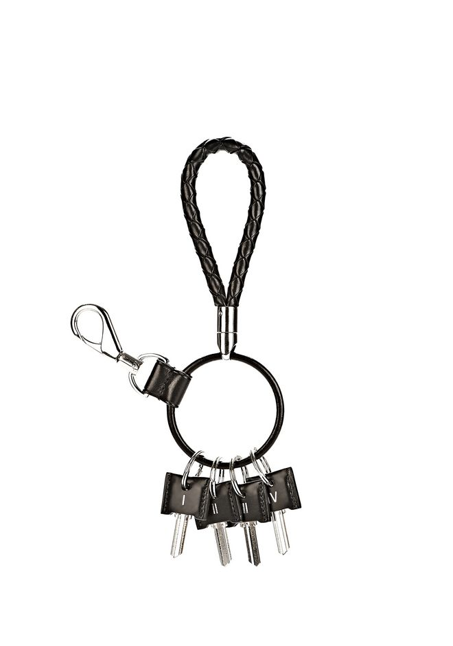 ALEXANDER WANG RUNWAY KEYRING IN  BLACK SMALL LEATHER GOOD Adult 12_n_f