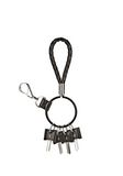 RUNWAY KEYRING IN  BLACK