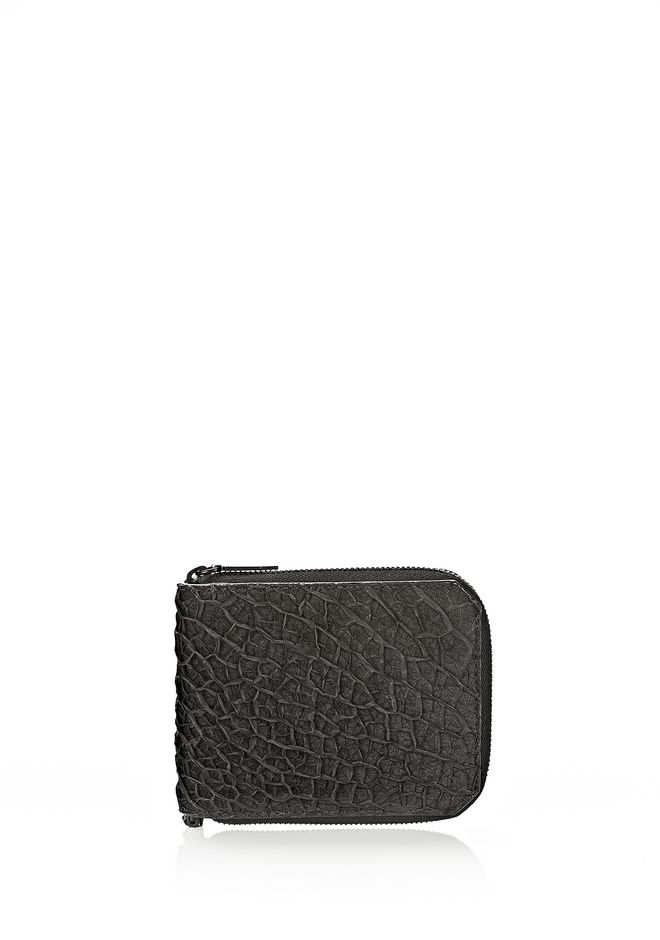 ALEXANDER WANG ZIPPED BI-FOLD IN BLACK EMBOSSED LAMB Wallets Adult 12_n_f
