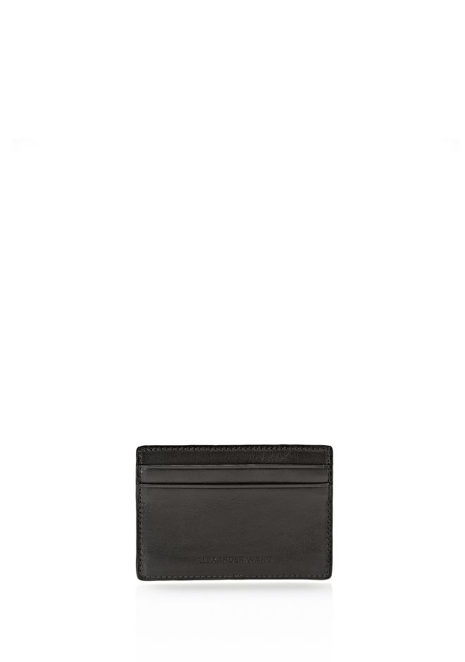 ALEXANDER WANG CARDHOLDER IN EMBOSSED BLACK  SMALL LEATHER GOOD Adult 12_n_r