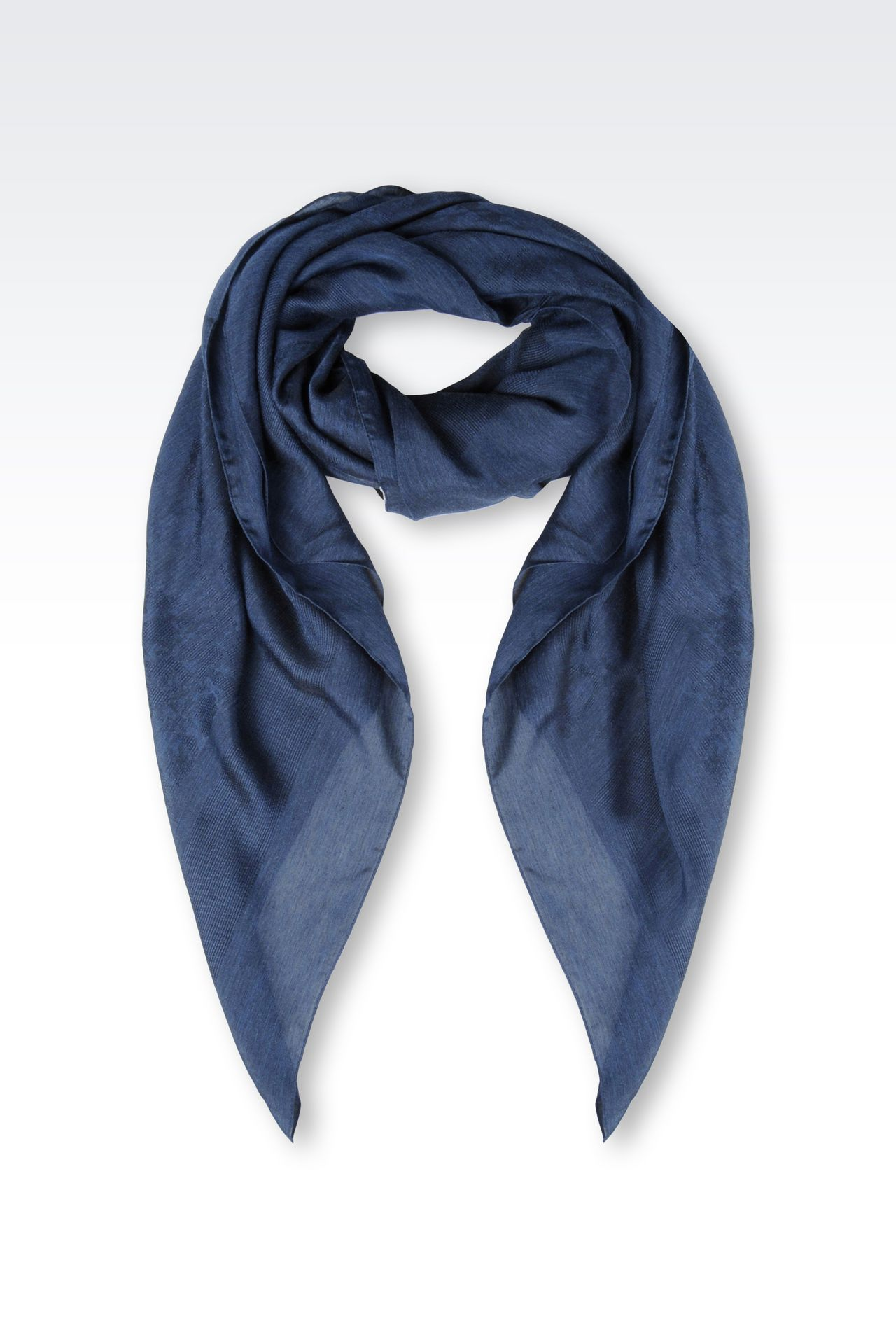VISCOSE AND SILK NECK SCARF: Foulards Women by Armani - 0