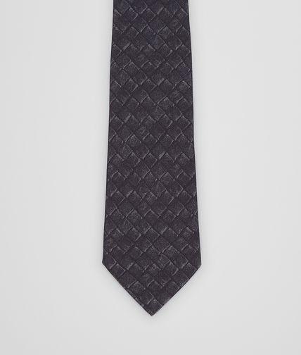 Black Dark Grey Silk Cotton Tie