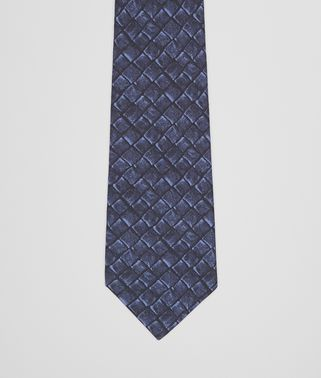 TIE IN MIDNIGHT BLUE SILK COTTON