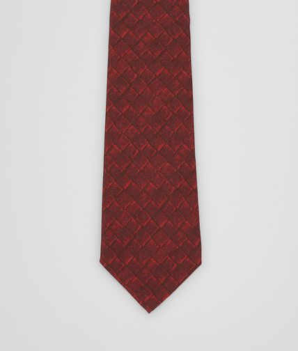 TIE IN AMARANTH SILK COTTON