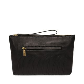 ALEXANDER MCQUEEN, Pouch, Leather Rib Cage Zipped Pouch