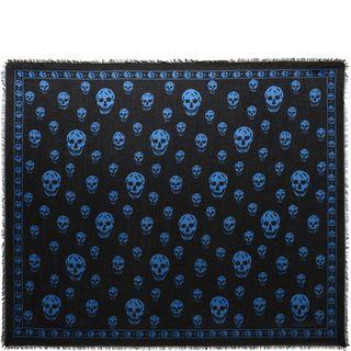 ALEXANDER MCQUEEN, Men's Scarf, Classic Silk Chiffon Skull Scarf