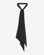 Micro Polka Dot Cravat in Black and White Printed Silk