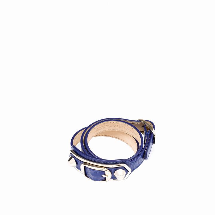 Balenciaga Classic dreifaches Armband mit Metallrändern