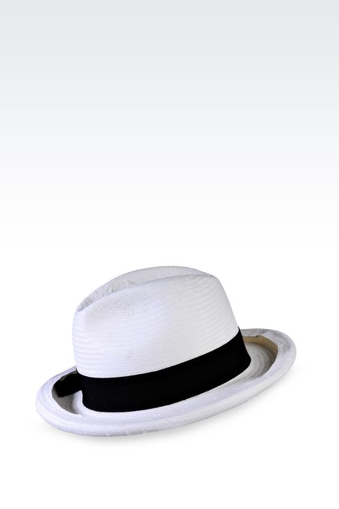 CLASSIC TWO-COLOUR HAT: Hats Women by Armani - 1